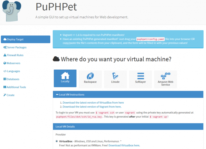 Use PuPHPet for Magento